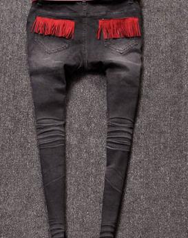 Letter-cartoon-Mickey-jeans-2