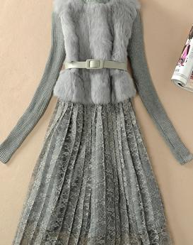 rabbit-fur-skir- long-sleeved-dress-2