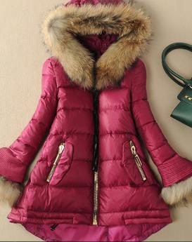 raccoon-fur-stitching-white-duck-down-jacket-2