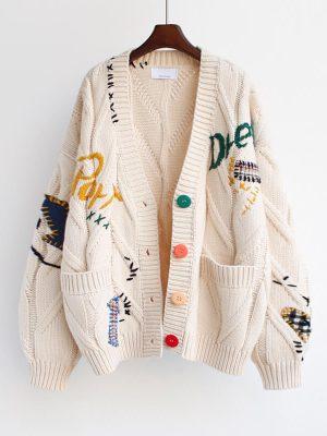 pulover cu nasturi dama edina