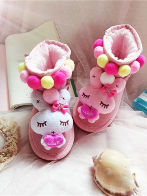 Ghete roz fete iarna figurine plus Baby Rabbit